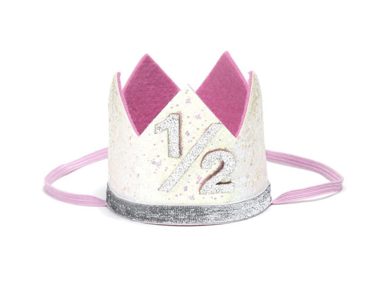 Pink 1/2 Birthday Crown