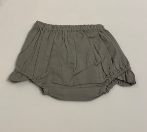 Diaper Cover - Grey with Ruffle Leg