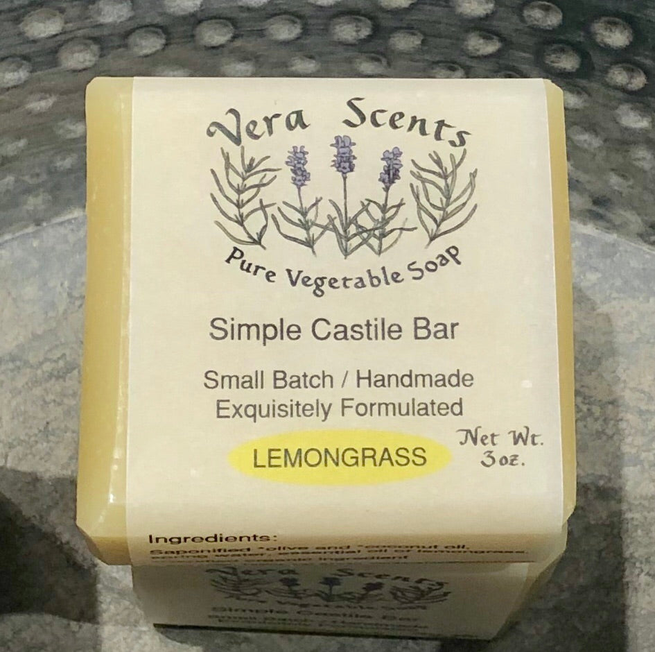 Vera Scents Simple Castiles - Lemongrass