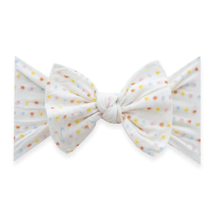 Patterned Shabby Knot - Ivory Rainbow Dot LE