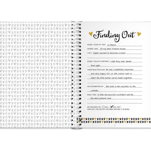 Pregnancy Journal - Black, White & Gold