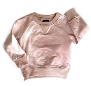 Little Bipsy Pullover - Blush Tie-Dye