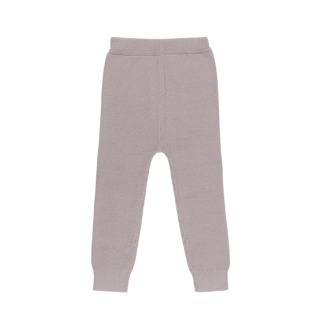 Link Knit Pants - Stone (0-3 and 3-6 with feet)