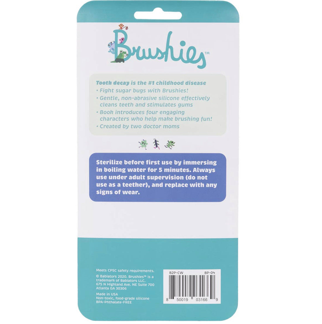 The Brushies Finger Puppet Toothbrush and Bonus Board Book
