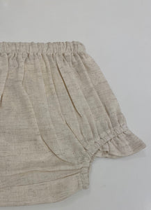 Diaper Cover - Natural with Ruffle Leg