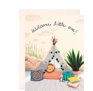 New Baby Card - Baby Teepee