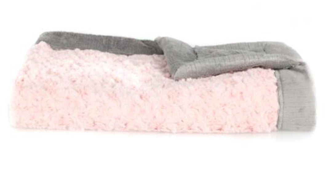 Lush Receiving Blanket - Light Pink Swirl/Gray Lush