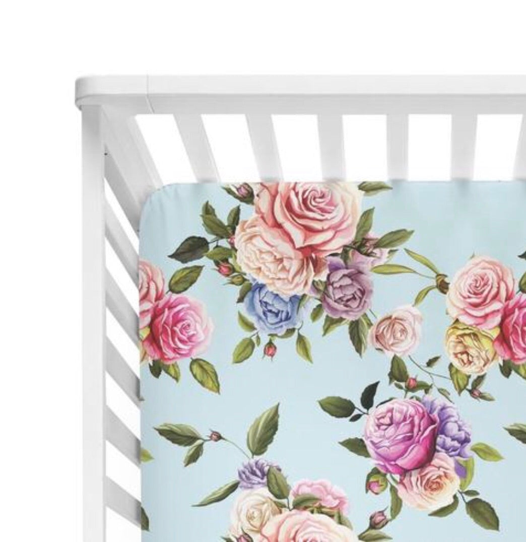 Posh Peanut Fitted Crib Sheets - Country Rose