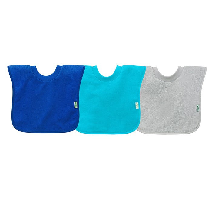 Pull-Over Stay-Dry Bibs 3pk - Royal/Teal/Grey