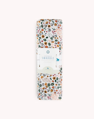 Cotton Muslin Swaddle - Pressed Petals