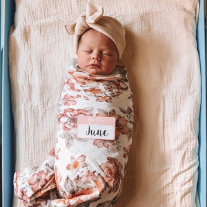 Muslin Swaddle - Sunset Floral