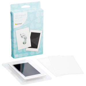 Black Handprint or Footprint Clean-Touch Ink Pad