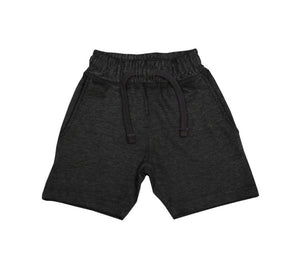 Comfy Heathered Shorts - Heathered Black