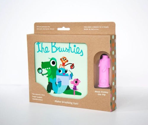 The Brushies Finger Puppet Toothbrush and Book