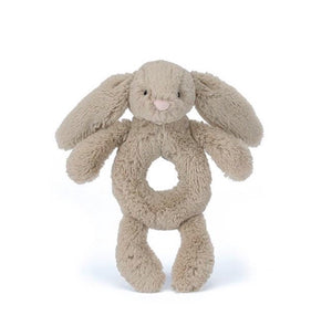 Bashful Beige Bunny Ring Rattle - Jellycat