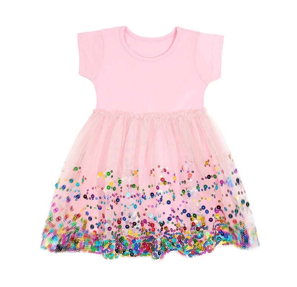 Pink Confetti Tutu Dress