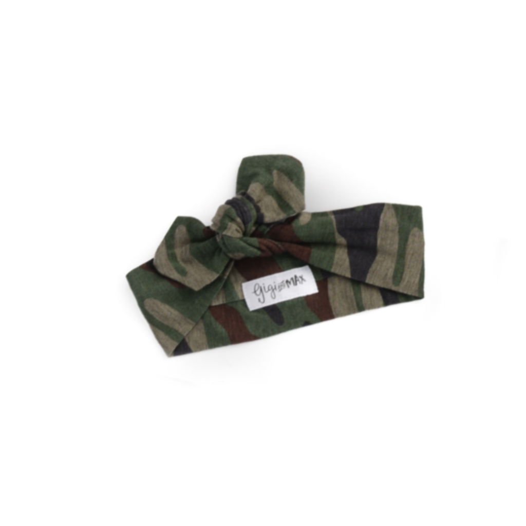 Gigi and Max Topknot Headband - Camo