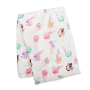 Deluxe Muslin Swaddle - Ice Cream