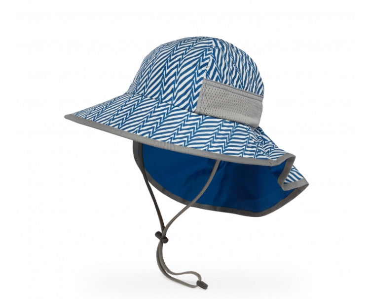 Kids Play Hat - Blue Electric Stripe