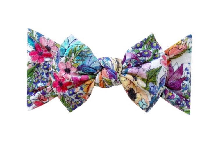 Printed Knot headband - Waterlily
