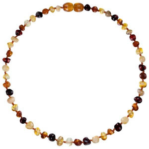 Amber Teething Necklace - Polished Mix Baltic Amber