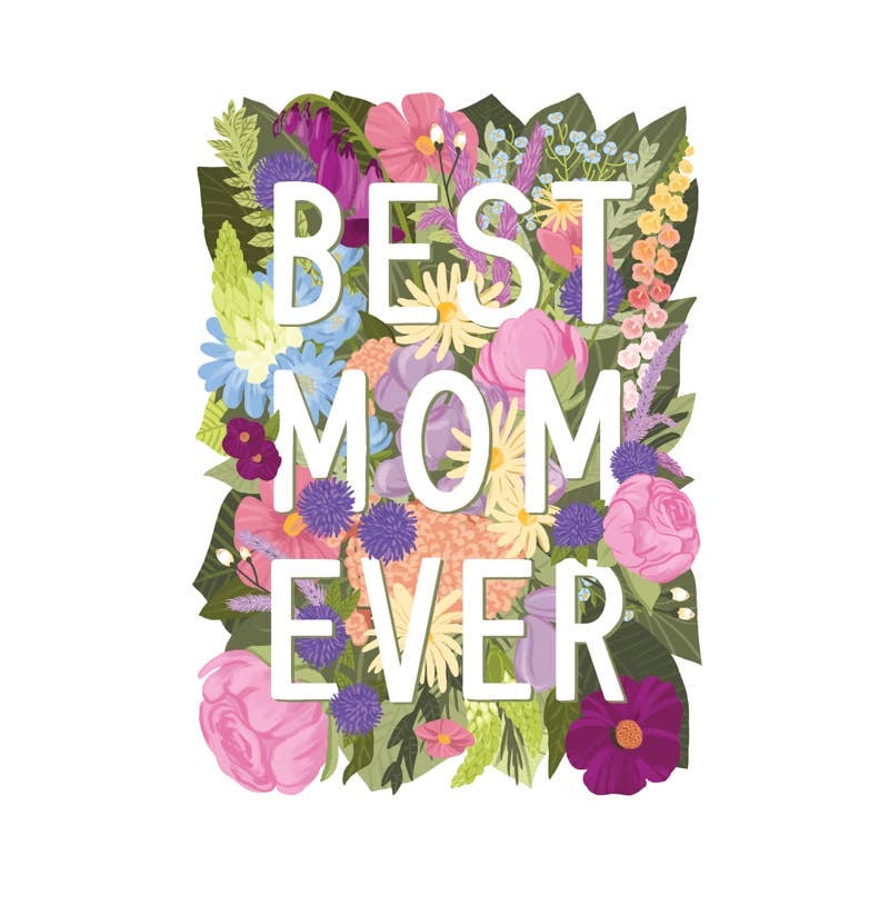 Best Mom Ever Die Cut Card