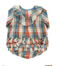 Miller Plaid V-Back Bubble Romper