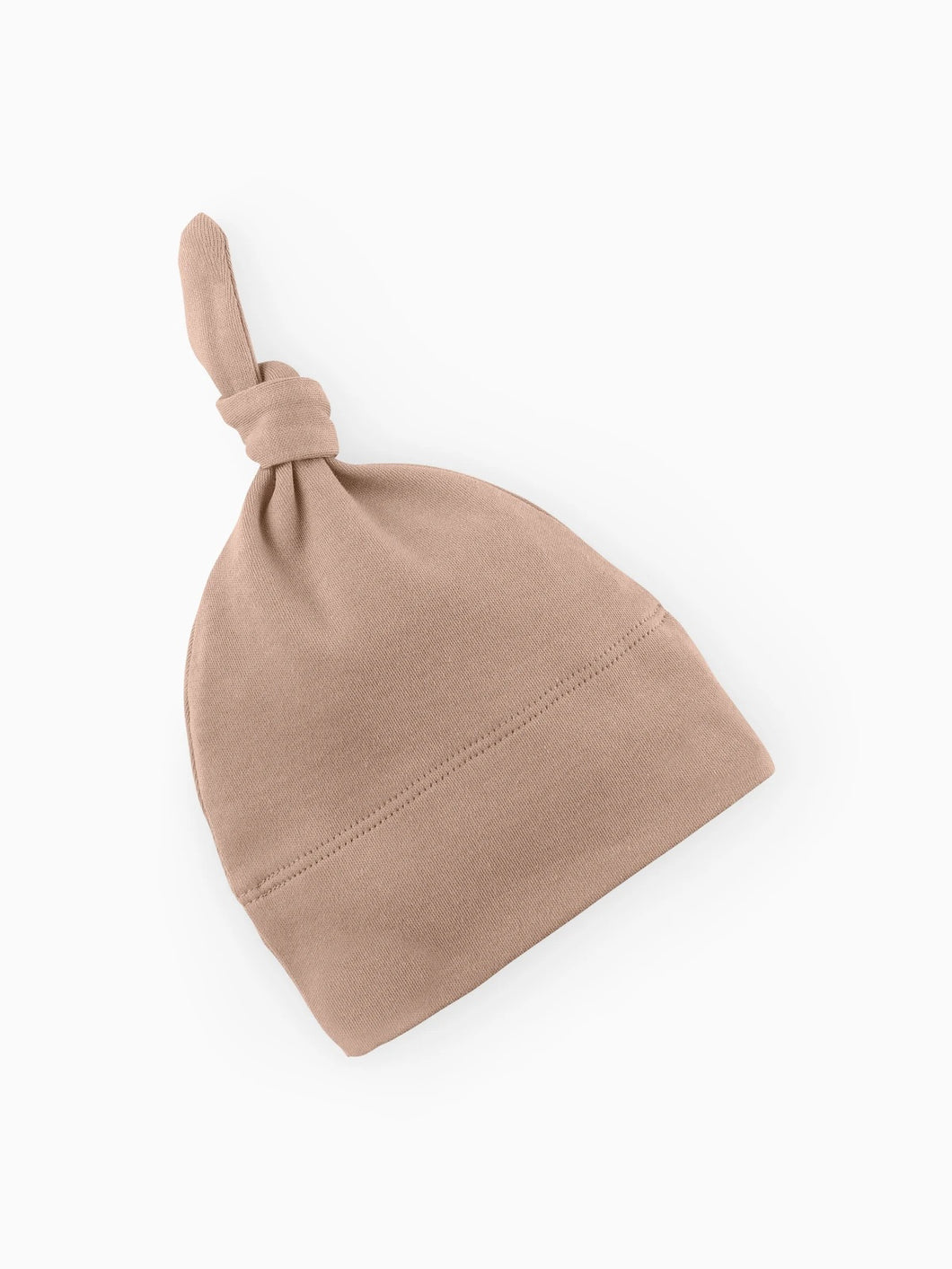 Organic Classic Knotted Hat - Truffle