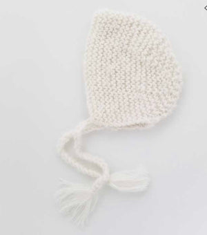Angora Newborn Bonnet - White