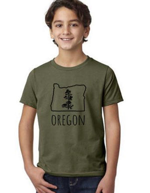 Oregon Pine T-Shirt - Military Green