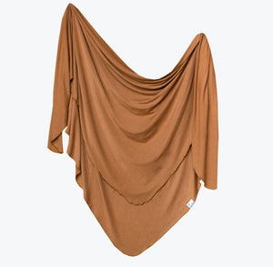 Single Knit Swaddle Blanket - Camel