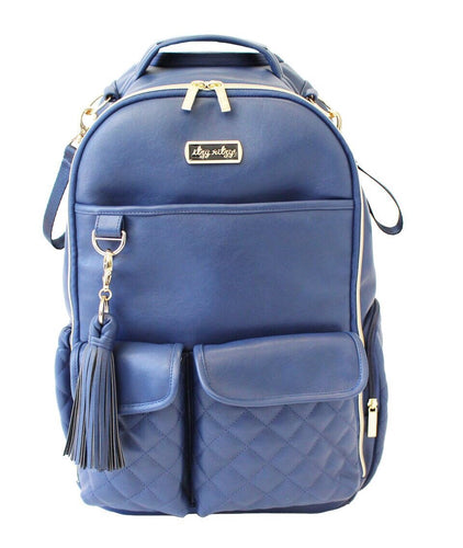 Boss Backpack Diaper Bag - Navy Gingham