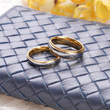 Silver & Gold Couple Wedding Rings Set