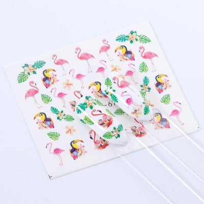 Floral Water Decals Nail Sticker
