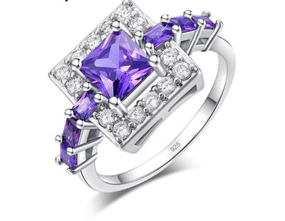 Purple Zirconia Wedding Ring -