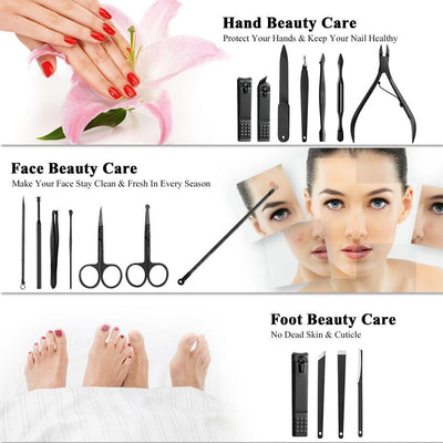 18pcs Pro Manicure Pedicure Kit -