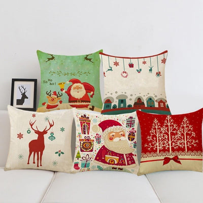 Christmas Themed Pillow Cover -