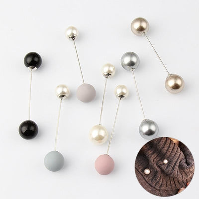 Imitation Double Pearl Brooches -