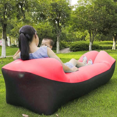 Outdoor Infaltable Air Sofa - Black and Red