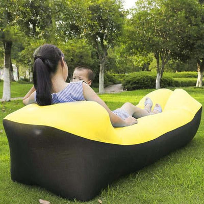 Outdoor Infaltable Air Sofa - Black and Yellow