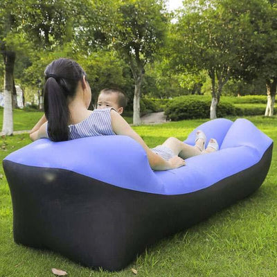 Outdoor Infaltable Air Sofa - Black and Sapphire
