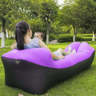 Outdoor Infaltable Air Sofa - Black and Purple