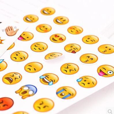 Cute Emoji Expression Sticker Sheet -