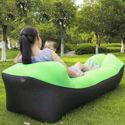 Outdoor Infaltable Air Sofa - Black and Fruit Green