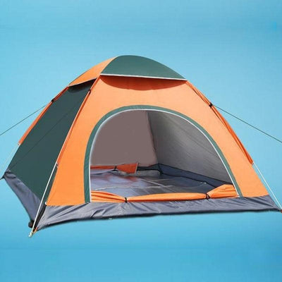 Outdoor Foldable Pop Up Open Tent - Orange Green