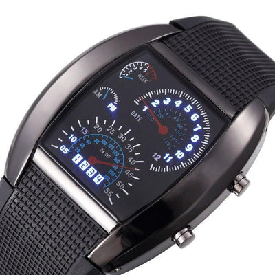 Luxtek LED Digital Race Car Watch -