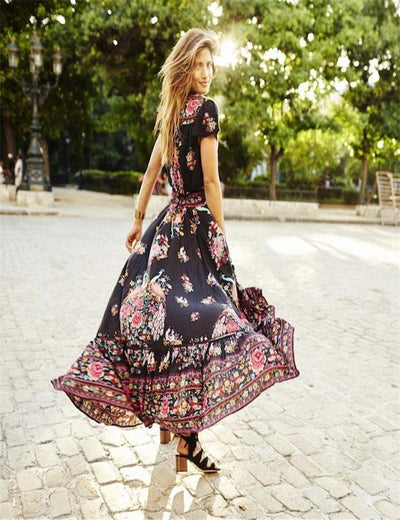Long Floral Summer Dress -