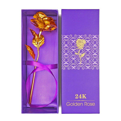 24k Gold Foil Rose - With Box -