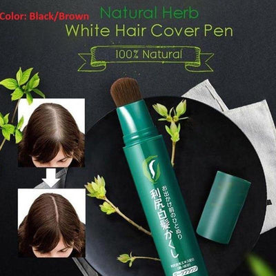 Natural Herb White Hair Cover Pen -