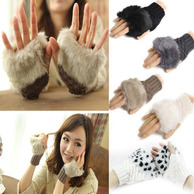 Fluffy Fur Winter Gloves -